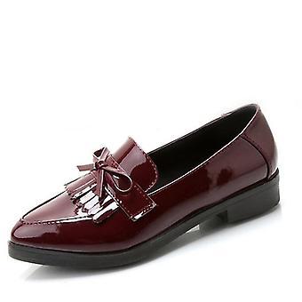 Lågklackat mode Bowtie Plattform kvinnliga skor / hälen platt sko casual sko