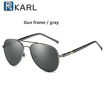 Polarized Driving Glasses Black Pilot Sun Glasses Brand Designer Retro