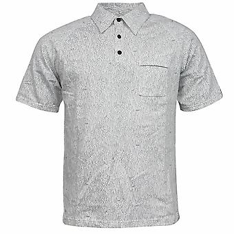 Nike ACG FitDry 3 Botão Up Mens White Patterned Polo Shirt 243110 100 X43A