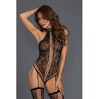 Bodystocking DR0329 black size: Queen size