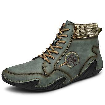 Hombres High Top Zapatos Casual 8899 Verde