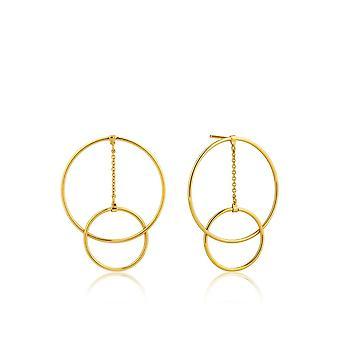 אניה האני כסף נוצץ זהב מצופה חישוק מודרני עגילים E002-04G