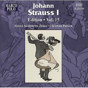 Los E.e.u.u. Vol. 15 [CD] de J. Strauss - Johann Strauss I edición, importar