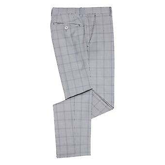 Lazio Blue Check Suit Trousers