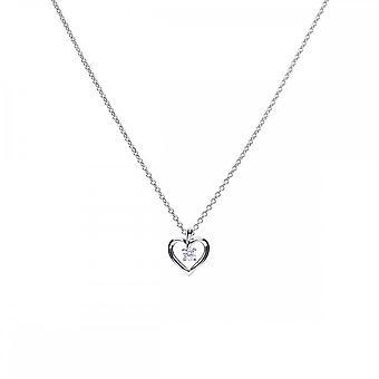 Diamonfire hopea valkoinen Zirkonia avoin sydän riipus P4637