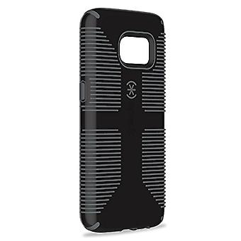 Speck Products Samsung Galaxy S7 Case, CandyShell Grip Case (Black/Slate Grey), Military-Grade Protective Case