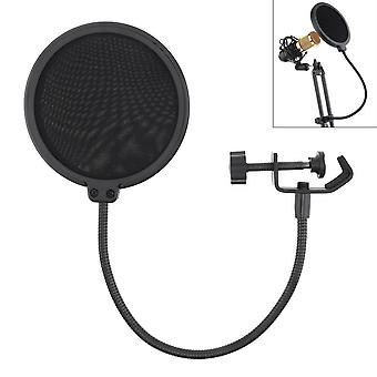Double Layer Studio Microphone Flexible Wind Screen Sound Filter