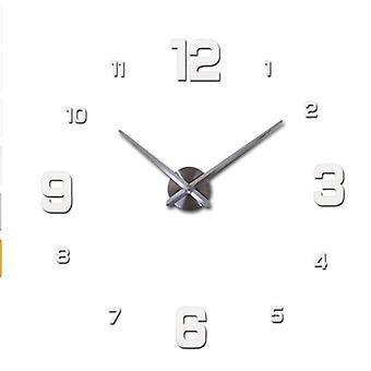 3d Real Big Wall Clock Modern Design Mirror Sticker