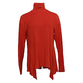 G By Giuliana Women's Top Turtleneck Fit and Flare Tee Red 675-483