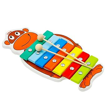 "Alatoys Wooden  Xylophone ""Monkey""painted"