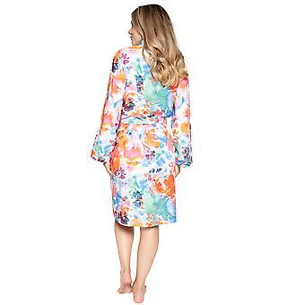 Cyberjammies Aimee 4829 Women's White Mix Floral Modal Robe