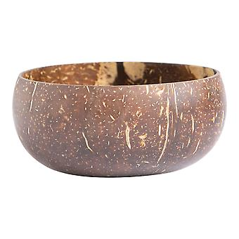 Natural Polished Coconut Bowl Eco Friendly Noodle Acai Buddha Bowls 12cm Brown
