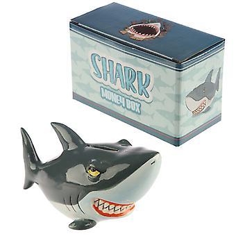 Boîte d'argent en céramique de requin de nouveauté