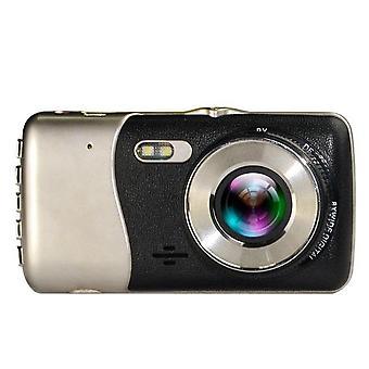 4.0 Hüvelykes LCD képernyő 170 fokos kettős lencse 1080p kamera autó jármű felvevő g-érzékelő nagy felbontású