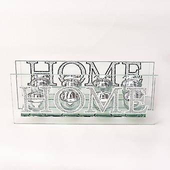 Widdop & Co. Spegel och kristall tealight hållare - Hem