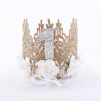 Newborn Infant Birthday, Tiaras Flower Lace Princess Headband