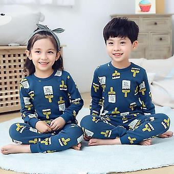 Lasten univaatteet, Vauvan kevätpuuvillasetit, Kotivaatteet, Pyjama, Lasten yöasut