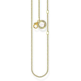 Wokex Charm Halskette gold, 925 Sterlingsilber, 38-45 cm Lnge