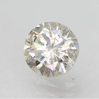 Certificado 0.67 Quilates H SI2 Redondo Brillante Diamante Suelto Natural Mejorado 5.77mm