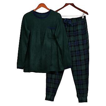 Cuddl Duds Kobiety&s Piżama Set Stretch Sweter & Joggers Zielony A387657