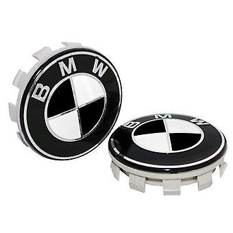 BMW Black Wheel Center Cap Hub Badge 68mm 1 PCS For 1 3 5 7 Series, X6, M3, Z4, E46, E90