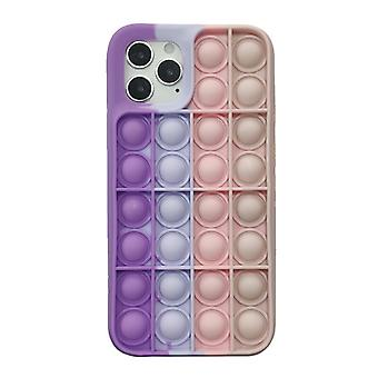 Bubble Silicone Telefoon Case Relive Stress Pop Fidget Toys Push It for For For iPhone 7 / 8 / 7 Plus/ 8 Plus / X / XS / XR / XSMAX / 11 / 12 / 11 pro / 12 pro / 11 pro Max / 12 pro Max
