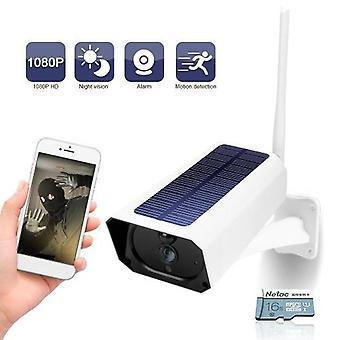 DC08 WIFI Solar Camera 1080P Wireless Minitor Plug-in gratuit IP67 Night Vision Real Time Voce Interfon Mișcare de detectare a alarmei