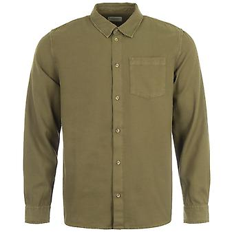 Nudie Jeans Co Chuck Fluid Twill Shirt - Army Green