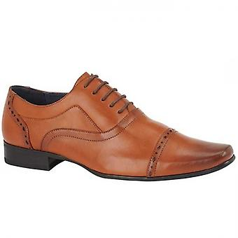 Route 21 Durham Mens Faux Leather Oxford Shoes Brown