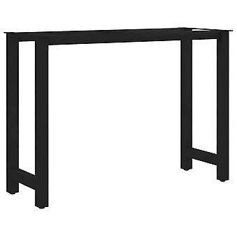vidaXL طاولة الطعام الساقين H-الإطار 120 × 50 × 72 سم