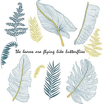 Plant Leaves Wall Sticker Home Decal (size: 90cm X 93cm)
