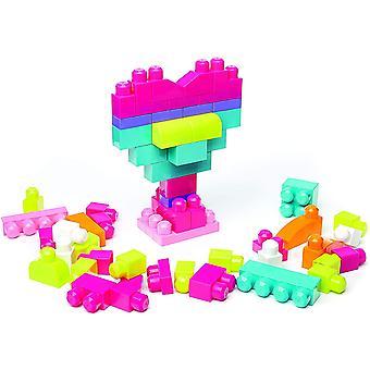 FengChun Bloks DCH54 - Bausteinebeutel Medium mit 60 Bausteine, pinkfarben