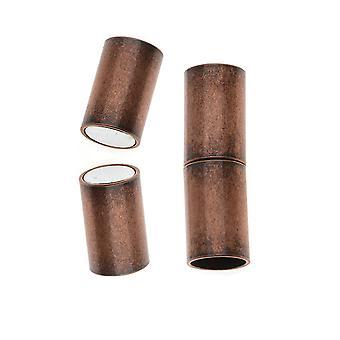 المشبك المغناطيسي، أنبوب الحبل ينتهي يناسب 6.2mm الحبل، 1 مجموعة، النحاس العتيق مطلي