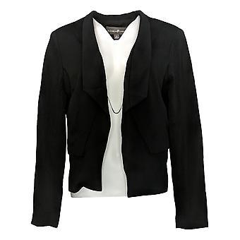 Elizabeth & Clarke Women's Reg Knit Blazer w/ StainTech Black A368592