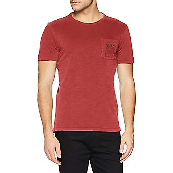 s.Oliver 13.902.32.3979 T-Shirt, Red (Poppy Seed 3640), L Man
