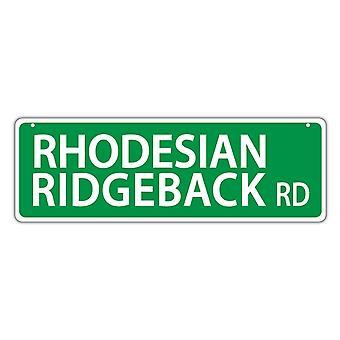 علامة الشارع، بلاستيك، روديسيان ريدجباك رود، 17 بوصة × 6 بوصات