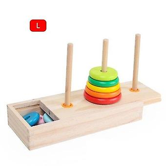 Hanoi Tower Kids Wooden Early Educational Toys Classic Mathematical Puzzle Toy |Math Toys