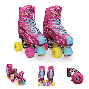 Byox Rollschuhe Nina pink, PU-Rollen, ABEC-5 Lager, Stopper, verschiedene Größen