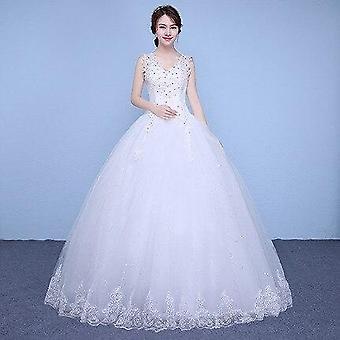 Vestido de Noiva Renda De Manga Cheia Curativo Bordado