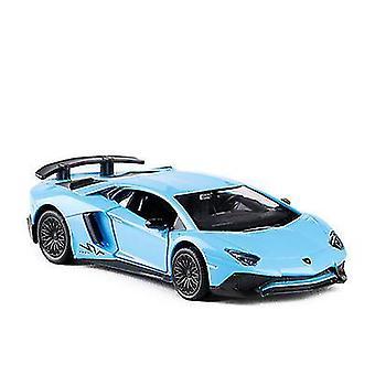 سيارة سبيكة زرقاء نموذج لعبة سيارة للفتيات kidsboys هدية x552