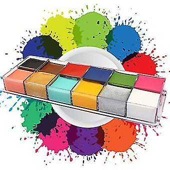 12 Body paint oilprofessional non toxic makeup palette x6433
