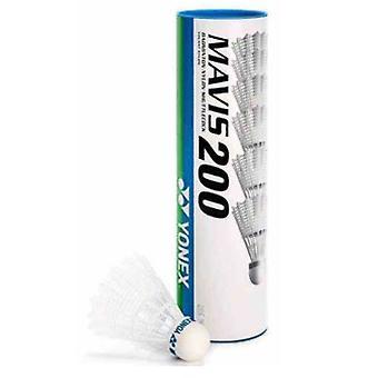 Yonex Mavis 200 Shuttles (Tube of 6)  White