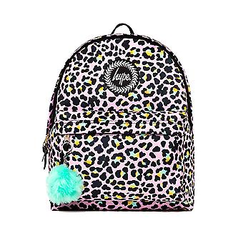 Hype Disco Leopard School Sports Gym Fashion Backpack Rucksack Bag Pink