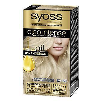 Permanent Dye Olio Intense Syoss Nº 10,50 Light Ash Blonde