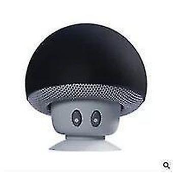 Cartoon Mushroom Head wireless Bluetooth Speaker Suction Cup Suporte telefônico portátil ao ar livre