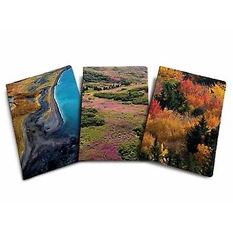 Refuge Sewn Notebook Collection Set of 3 Gifts for Outdoor Enthusiasts and Nature Lovers Journals for Hikers National Parks National Wildlife  Lovers Journals for Hikers National Parks