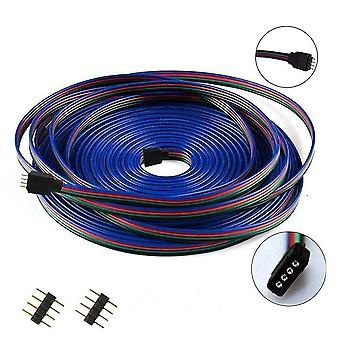 1M 2m 3m 5m 10m 20m 50m 100m 4pin rgb extension cable dc 12v led strip extend wire connector for 2835 5050 rgb led strip