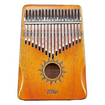 Калимба Большой палец фортепиано 17 ключей Портативный музыкальный инструмент для детей оранжевый
