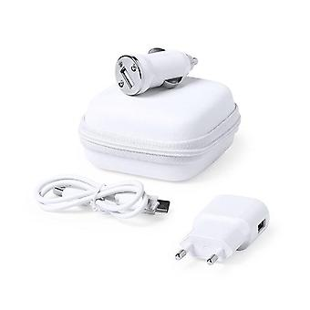 Set of Chargers USB 1000 mAh White 146091