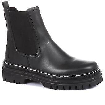 Gabor kvinner skinn chunky Chelsea støvler